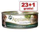 23 + 1 gratis! 24 x 156 g Applaws Conserve în supă