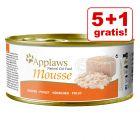 5 + 1 gratis! 6 x 70 g Applaws Mousse
