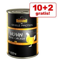 10 + 2 gratis! 12 x 400 g Belcando Single Protein