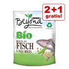 2 + 1 gratis! 3 x 800 g BEYOND BIO Adult Pește și orez