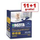 11 + 1 gratis! 12 x 370 g Bozita Häppchen in Gelee