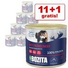 11 + 1 gratis! 12 x 625 g Bozita Paté