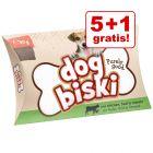 5 + 1 gratis! 6 x 90 g Briantos DogBiski biscotti - Pollo, Manzo & Pomodoro
