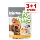 "3 + 1 gratis! 4 x 150 g Briantos ""FitBites"" Junior Hundesnacks"