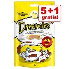 5 + 1 gratis! 6 x 60 g Catisfactions snack per gatti