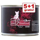 5 + 1 gratis! 6 x 200/190 g catz finefood Purrrr