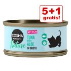5 + 1 gratis! 6 x 70 g Cosma Nature Kitten hrană umedă