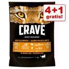 4 + 1 gratis! 5 x 750 g Crave Adult Cat