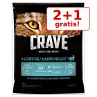 2 + 1 gratis! 3 x 750 g Crave Adult Cat hrană pisici