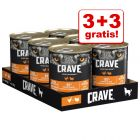 3 + 3 gratis! 6 x 400 g Crave Adult umido