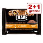 2 + 1 gratis! 12 x 85 g Crave Cat Pliculețe / 3 x 750 g Crave hrană uscată