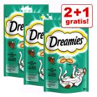 2 + 1 gratis! 3 x 60 g Dreamies kattesnacks
