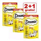 2 + 1 gratis! 3 x 180 g Dreamies Katzensnacks