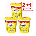 2 + 1 gratis! 3 x 350 g Dreamies Katzensnacks Megatub