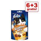6 + 3 gratis! 9 x 60 g Felix KnabberMix Katzensnacks