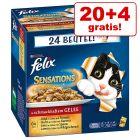 20 + 4 gratis! 24 x 100 g  Felix Sensations