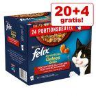 20+ 4 gratis! 24 x 85 g Felix Sensations în sos/gelatină