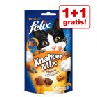 1 + 1 gratis! 2 x 60 g Felix snacks