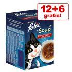 12 + 6 gratis! 18 x 48 g Felix Soup