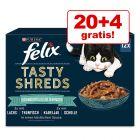 """20 + 4 gratis! 24 x 80 g Felix """"Tasty Shreds"""" Pliculețe"""