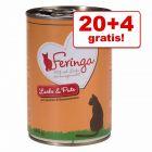 20 + 4 gratis! 24 x 400 g Feringa Menù Duetto