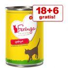 18 + 6 gratis! 24 x 400 g Feringa Menu Duo-Soorten Kattenvoer