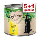5 + 1 gratis! 6 x 200 g Feringa Organic Kitten hrană umedă pisici