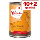 10 + 2 gratis! 12 x 410 g Feringa Pure Meat Meni