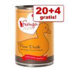 20 + 4 gratis! 24 x 410 g Feringa Pure Meat Meny
