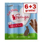 6 + 3 gratis! 9 x 6 g Feringa Sticks Salmone & Trota