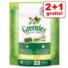 2 + 1 gratis! 3 x 170 g / 340 g Greenies Tandpleje Tyggesnacks