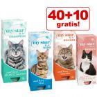 40 + 10 gratis! 50 x 85 g / 90 g My Star Alimento umido per gatti