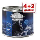 4 + 2 gratis! 6 x 200 g/ 400 g Wild Freedom Adult Kattenvoer