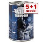 5 + 1 gratis! 6 x 200 g/ 400 g Wild Freedom Adult Kattenvoer