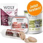 5 + 1 gratis! 6 x 300 g/ 400 g Wolf of Wilderness Nassfutter-Mixe