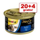 20 + 4 gratis! 24 x 70 g GimCat ShinyCat Jelly