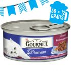 36 + 12 gratis! 48 x 85 g Gourmet Diamant Sfilaccetti di Carne