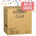 86 +10 gratis! 96 x 85 g Gourmet Gold
