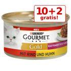 10 + 2 gratis! 12 x 85 g Gourmet Gold Ragout