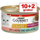 10 + 2 gratis! 12 x 85 g Gourmet Gold Tortini