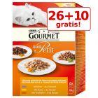 26 + 10 gratis! 36 x 50 g Gourmet Mon Petit