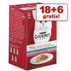 18 + 6 gratis! 24 x 50 g Gourmet Mon Petit Kattenvoer