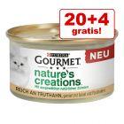 20 + 4 gratis! 24 x 85 g Gourmet Nature's Creations