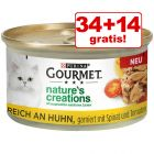 34 + 14 gratis! 48 x 85 g Gourmet Nature's Creations