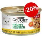 20% gratis! 12 x 85 g Gourmet Nature's Creations