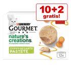 10 + 2 gratis! 12 x 85 g Gourmet Nature's Creations