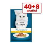40 + 8 gratis! 48 x 85 g Gourmet Perle kattemat