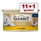 11 + 1 gratis! 12 x 85 g Gourmet Perle sau Gold Mousse