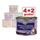 4 + 2 gratis! 6 x 200 g Grau Schlemmertöpfchen getreidefrei