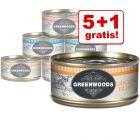 5 + 1 gratis! 6 x 70 g Greenwoods Adult